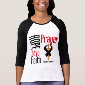 Melanoma Hope Love Faith Prayer Cross Tees