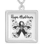 Melanoma Hope Matters Square Pendant Necklace