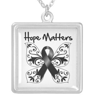 Melanoma Hope Matters Square Pendant Necklace