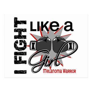 Melanoma I Fight Like A Girl 13 2 Postcard