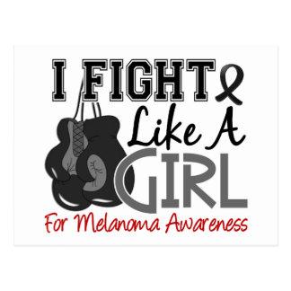 Melanoma I Fight Like A Girl 15 5 Postcard