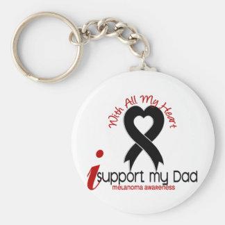 Melanoma I Support My Dad Keychain