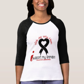 Melanoma I Support My Grandpa Tee Shirts