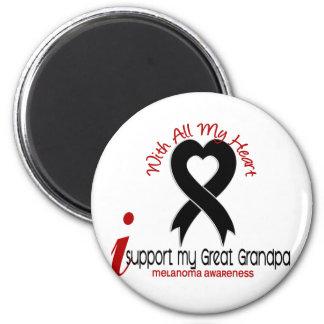 Melanoma I Support My Great Grandpa 6 Cm Round Magnet