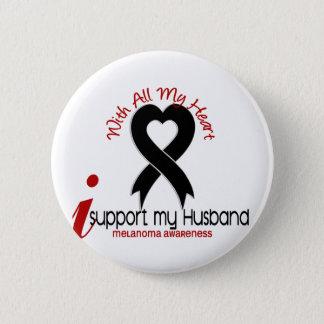Melanoma I Support My Husband 6 Cm Round Badge