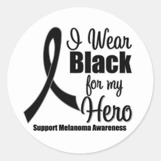 Melanoma I Wear Black For My Hero Stickers