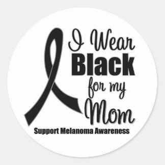 Melanoma I Wear Black For My Mum Stickers