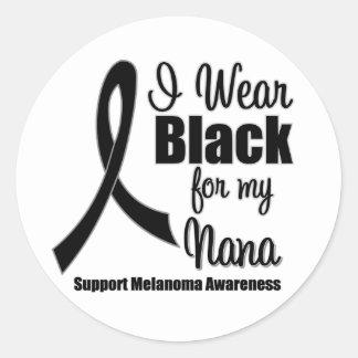 Melanoma I Wear Black For My Nana Stickers