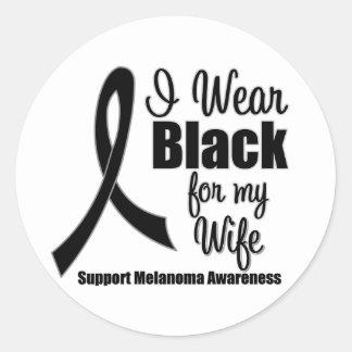 Melanoma I Wear Black For My Wife Sticker