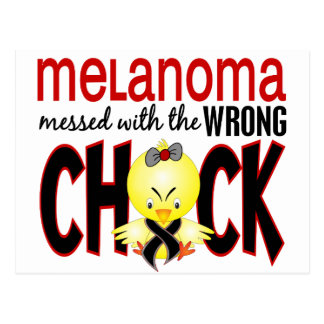 Melanoma Messed With The Wrong Chick Postcard
