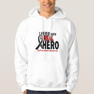 Melanoma NEVER KNEW A HERO 2 Cousin Hoodie