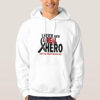 Melanoma NEVER KNEW A HERO 2 Cousin Hoody