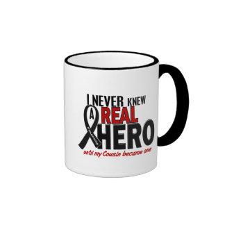 Melanoma NEVER KNEW A HERO 2 Cousin Mugs