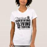 Melanoma Not Just Surviving But Living Tshirt