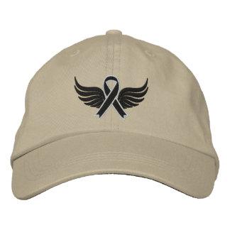 Melanoma Ribbon Wings Embroidered Baseball Cap