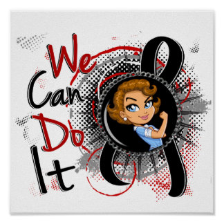 Melanoma Rosie Cartoon WCDI.png Print