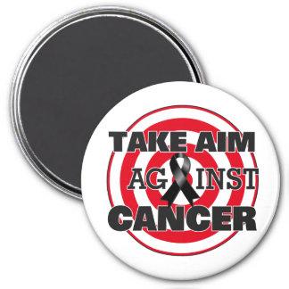 Melanoma Take Aim Against Cancer 7.5 Cm Round Magnet