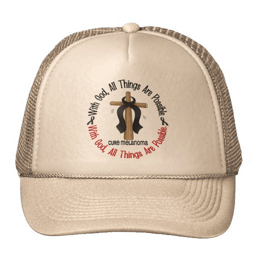 Melanoma WITH GOD CROSS Mesh Hats