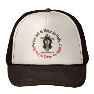 Melanoma WITH GOD CROSS Hats