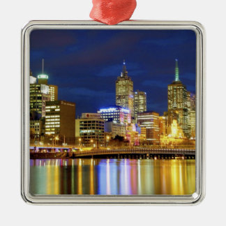 Melbourne, Australia. A nighttime view of the 2 Christmas Ornament