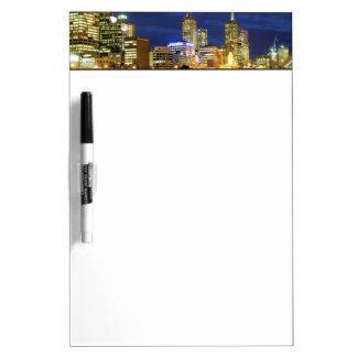 Melbourne, Australia. A nighttime view of the 2 Dry Erase Whiteboard
