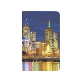 Melbourne, Australia. A nighttime view of the 2 Journal
