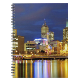 Melbourne, Australia. A nighttime view of the 2 Notebooks
