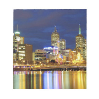 Melbourne, Australia. A nighttime view of the 2 Notepad