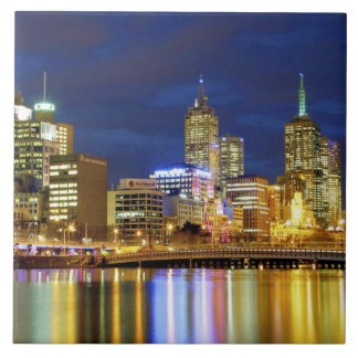 Melbourne, Australia. A nighttime view of the 2 Tile