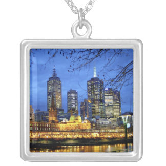 Melbourne, Australia. A nighttime view of the Silver Plated Necklace