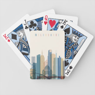 Melbourne, Australia | City Skyline Bicycle Playing Cards
