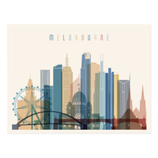 Melbourne, Australia | City Skyline Postcard
