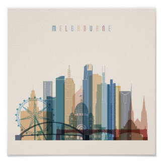 Melbourne, Australia | City Skyline Poster