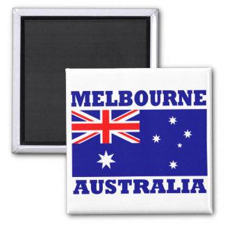 Melbourne Australia Flag Refrigerator Magnets