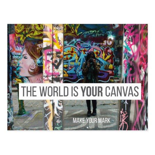 Melbourne (Australia) Quote Postcard - Graffiti