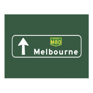 Melbourne, Australia Road Sign Postcard
