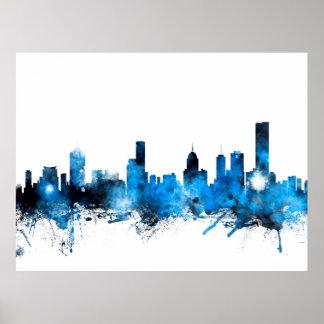 Melbourne Australia Skyline Posters