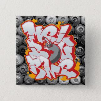 Melbourne Graffiti Bubble Letters 15 Cm Square Badge