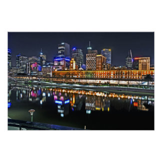 Melbourne in HDR Poster