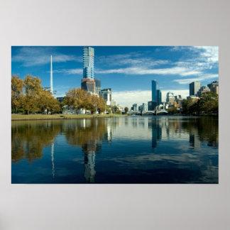 Melbourne Reflection Poster