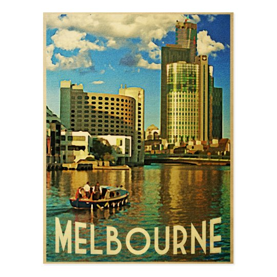 Melbourne Skyline Australia Postcard
