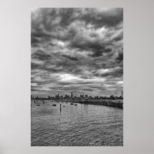 Melbourne skyline from St. Kilda Poster