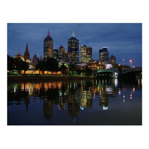 Melbourne Skyline Postcard
