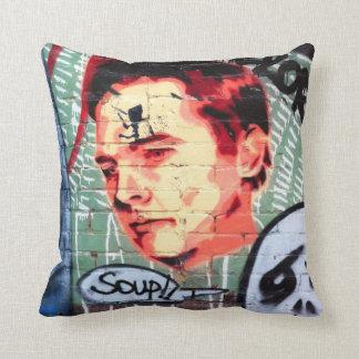 Melbourne street art / grafitti throw pillow