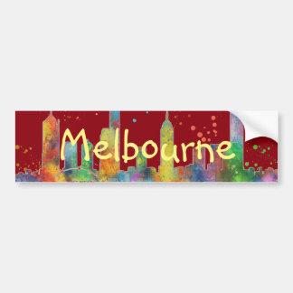 MELBOURNE, VICTORIA AUSTRALIA SKYLINE BUMPER STICKER