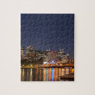 Melbourne' Yarra River at night Jigsaw Puzzle
