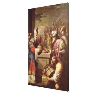 Melchizedek Offering Bread and Wine Stretched Canvas Prints