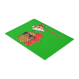 Mele Kalikimaka Christmas Pineapple Doormat