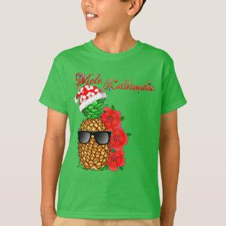 Mele Kalikimaka Christmas Pineapple T-Shirt