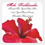 Mele Kalikimaka Christmas return address Square Sticker